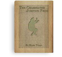 Jumping Frog by Mark Twain Canvas Print