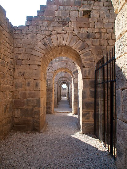 Walk in the Roman Castle, Turkey by Kirk D. Belmont Photography