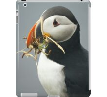 Puffin with nesting materials iPad Case/Skin