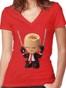 Hitman Eggsolution Women's Fitted V-Neck T-Shirt