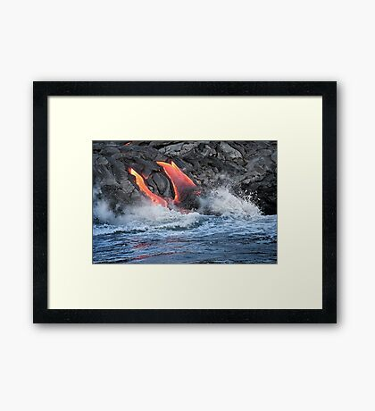 Lava Flow at Kalapana 15 Framed Print