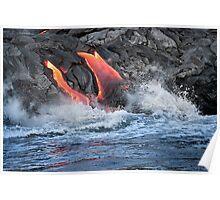 Lava Flow at Kalapana 15 Poster