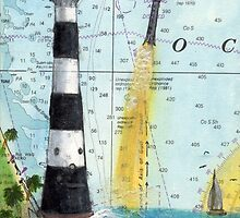 Cape Canaveral Lighthouse FL Nautical Chart Map Cathy Peek by Cathy Peek