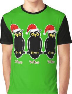 Christmas Owls Graphic T-Shirt