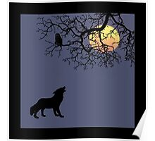 The Owl, The Wolf and the Moon... Poster
