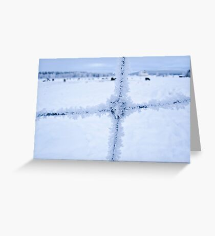 Snow on the Fence  Greeting Card