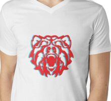 3Bear Mens V-Neck T-Shirt