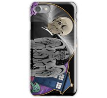 The Silent Angel in a Blue Box iPhone Case/Skin