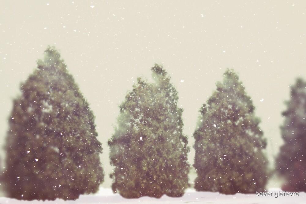 snowing by beverlylefevre