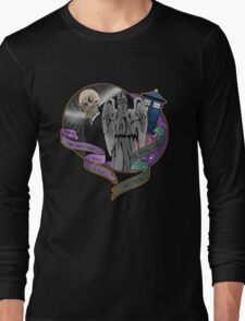 The Silent Angel in a Blue Box Long Sleeve T-Shirt