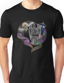 The Silent Angel in a Blue Box Unisex T-Shirt