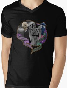 The Silent Angel in a Blue Box Mens V-Neck T-Shirt