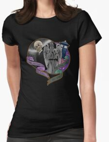 The Silent Angel in a Blue Box Womens Fitted T-Shirt