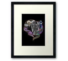 The Silent Angel in a Blue Box Framed Print