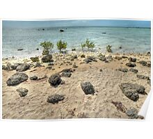 St Andrews Beach at Yamacraw on Eastern Nassau, The Bahamas Poster
