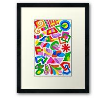 PLAYFUL FIGURES Framed Print