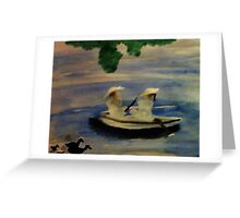 On the lake , watercolor Greeting Card