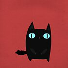 Fat Black Cat by Sophie Corrigan