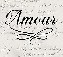 amour - white by beverlylefevre
