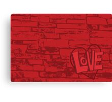 Love Bricks Canvas Print