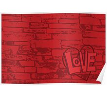 Love Bricks Poster