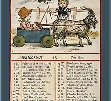 Greetings-Kate Greenaway December Almanac Page by Yesteryears