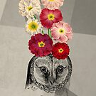 flower owl by beverlylefevre