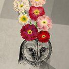 flower owl by beverlylefevre
