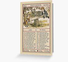 Greetings-Kate Greenaway September Almanac Page Greeting Card