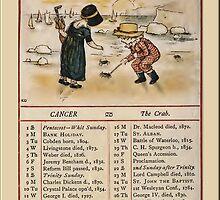 Greetings-Kate Greenaway June Almanac Page by Yesteryears