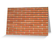 Bricks Wall Greeting Card