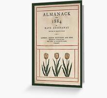 Vintage Greetings-Kate Greenaway Almanack 1884 Greeting Card