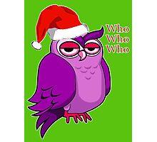 Santa Owl  Photographic Print