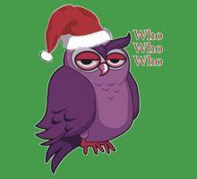 Santa Owl  Kids Clothes