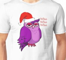 Santa Owl  Unisex T-Shirt