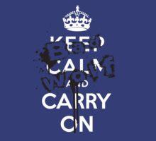 Keep Calm Bad Wolf by Jarrod Kamelski