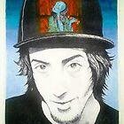 self portrait and o-iwa by Roy Northrop