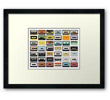 awesome old cassette collection Framed Print