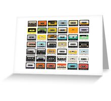awesome old cassette collection Greeting Card