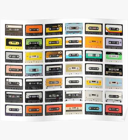 awesome old cassette collection Poster