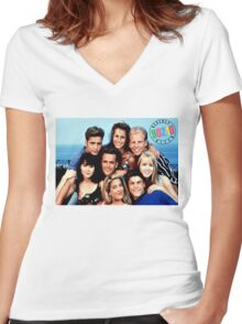 90210-cast Women's Fitted V-Neck T-Shirt