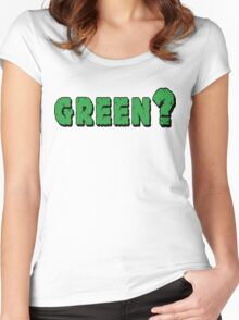 Earth Day Green? Women's Fitted Scoop T-Shirt