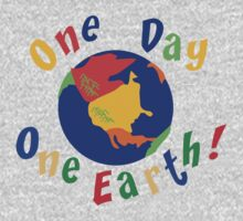 """Earth Day """"One Day One Earth"""" Baby Tee"""