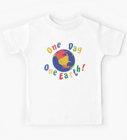 """Earth Day """"One Day One Earth"""" Kids Tee"""