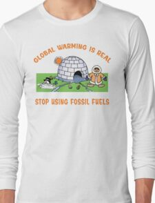 Earth Day Stop Global Warming Long Sleeve T-Shirt