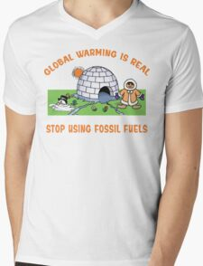 Earth Day Stop Global Warming Mens V-Neck T-Shirt