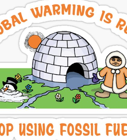 Earth Day Stop Global Warming Sticker