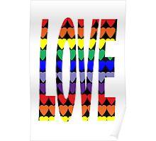 Love Rainbow Hearts Poster
