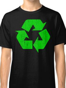 Earth Day Grunge Recycle Symbol Classic T-Shirt