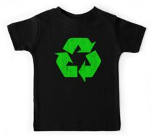 Earth Day Grunge Recycle Symbol Kids Tee